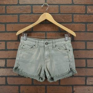 FREE PEOPLE Distressed Gray Frayed Cutoff Shorts